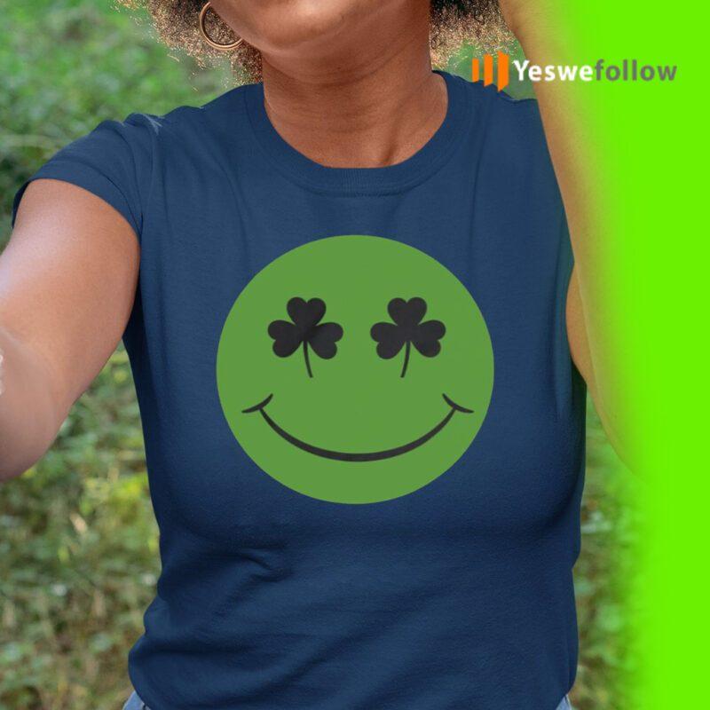Shamrock Green Happy Face St Patricks Day TeeShirts