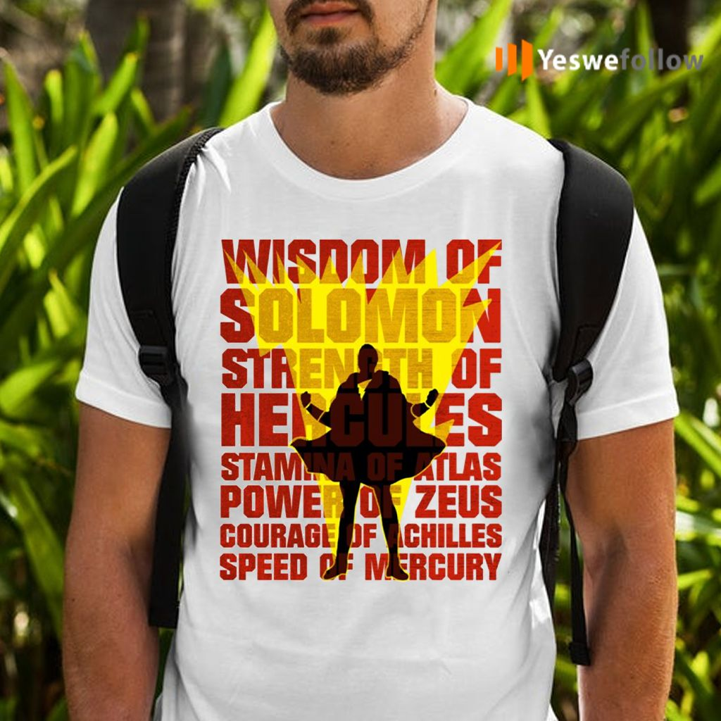 Shazam! Movie Silhouette Wisdom Of Solomon T-Shirts