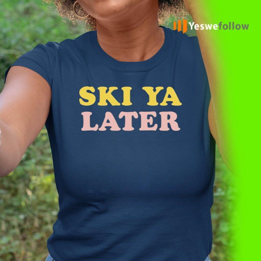 Ski Ya Later Retro Winter TeeShirts