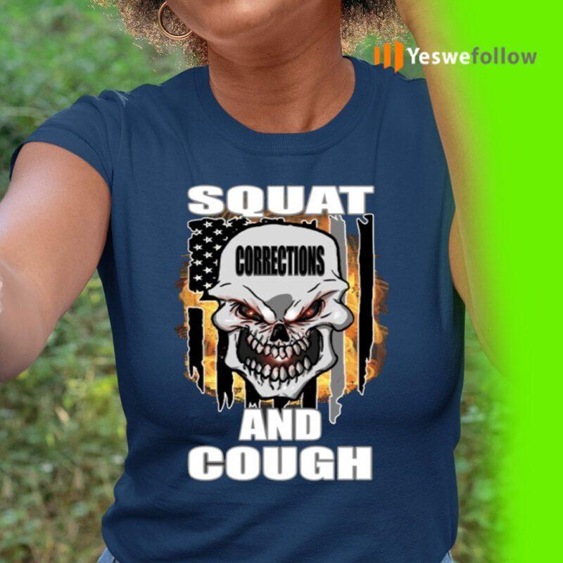 Squat And Cough Usa Flag TeeShirts