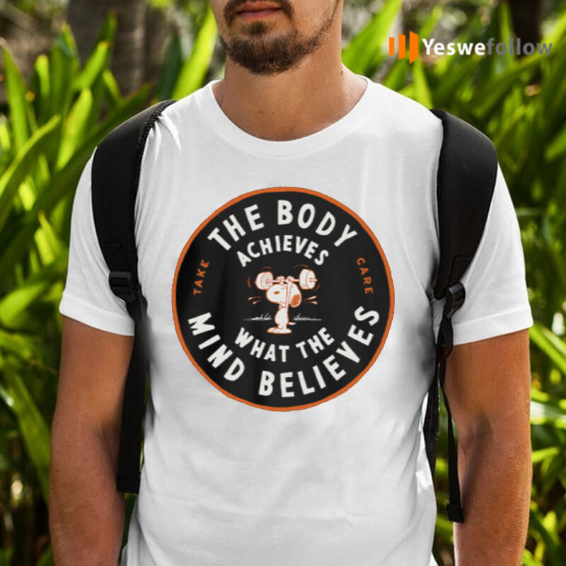 The Boy Achieves What The Mind Believes Peanuts TeeShirt