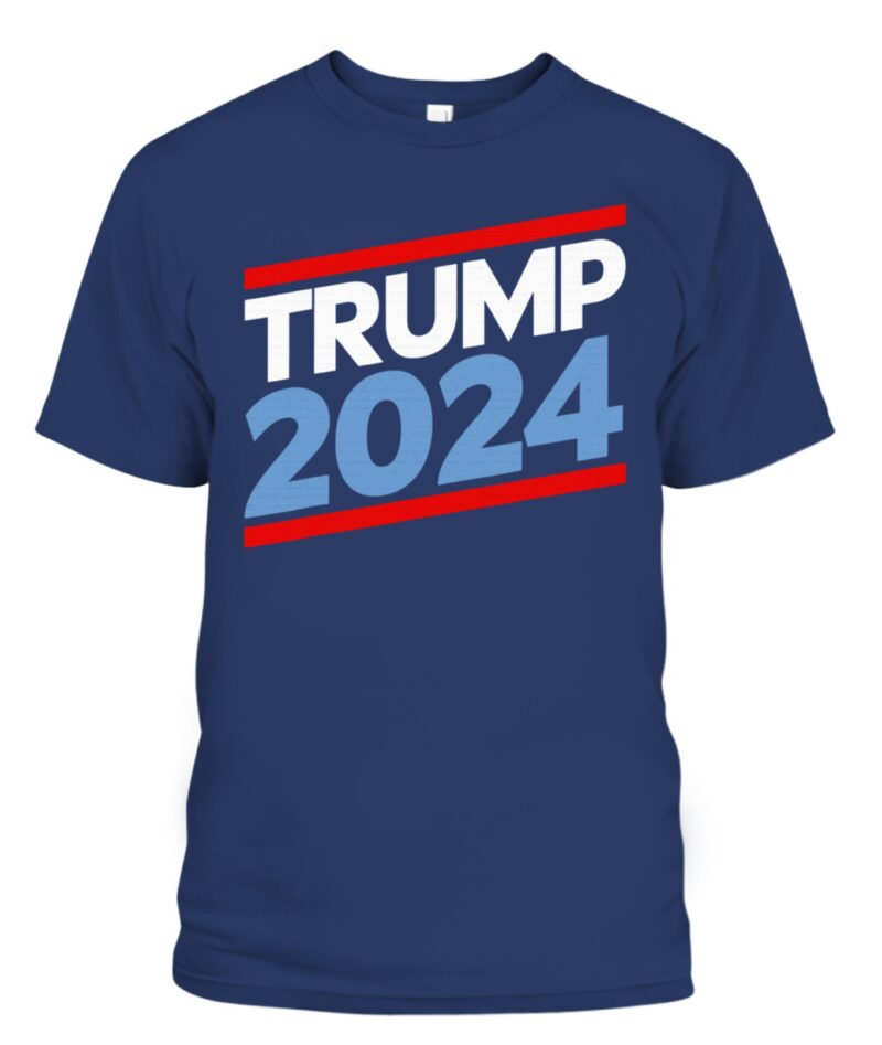 Trump 2024 T-Shirt - Red, White, and Blue Republican Gifts