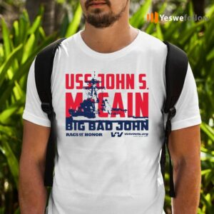 Uss John Votevets Mccain A Rags Of Honor TShirts