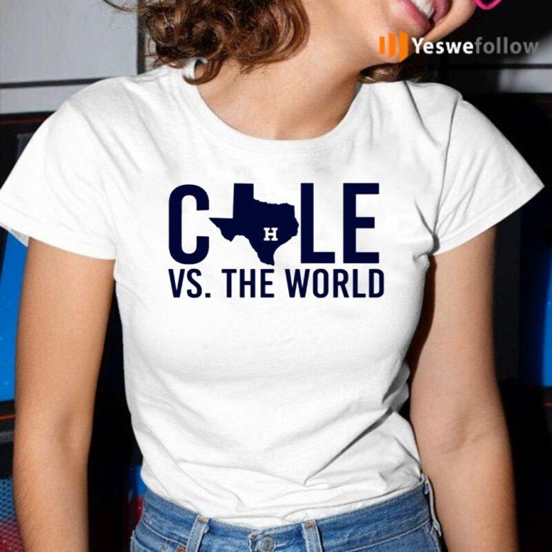 Verlander Cole 2019 Gerrit Cole Vs The World Shirt