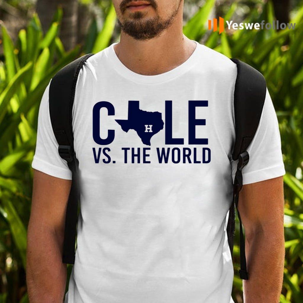 Verlander Cole 2019 Gerrit Cole Vs The World Shirts