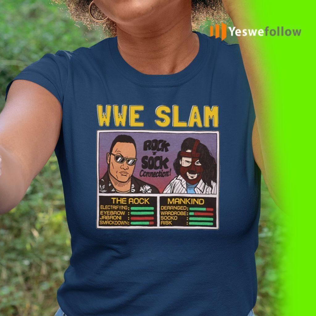 Wwe Slam Homage The Rock Vs Mankind TShirts