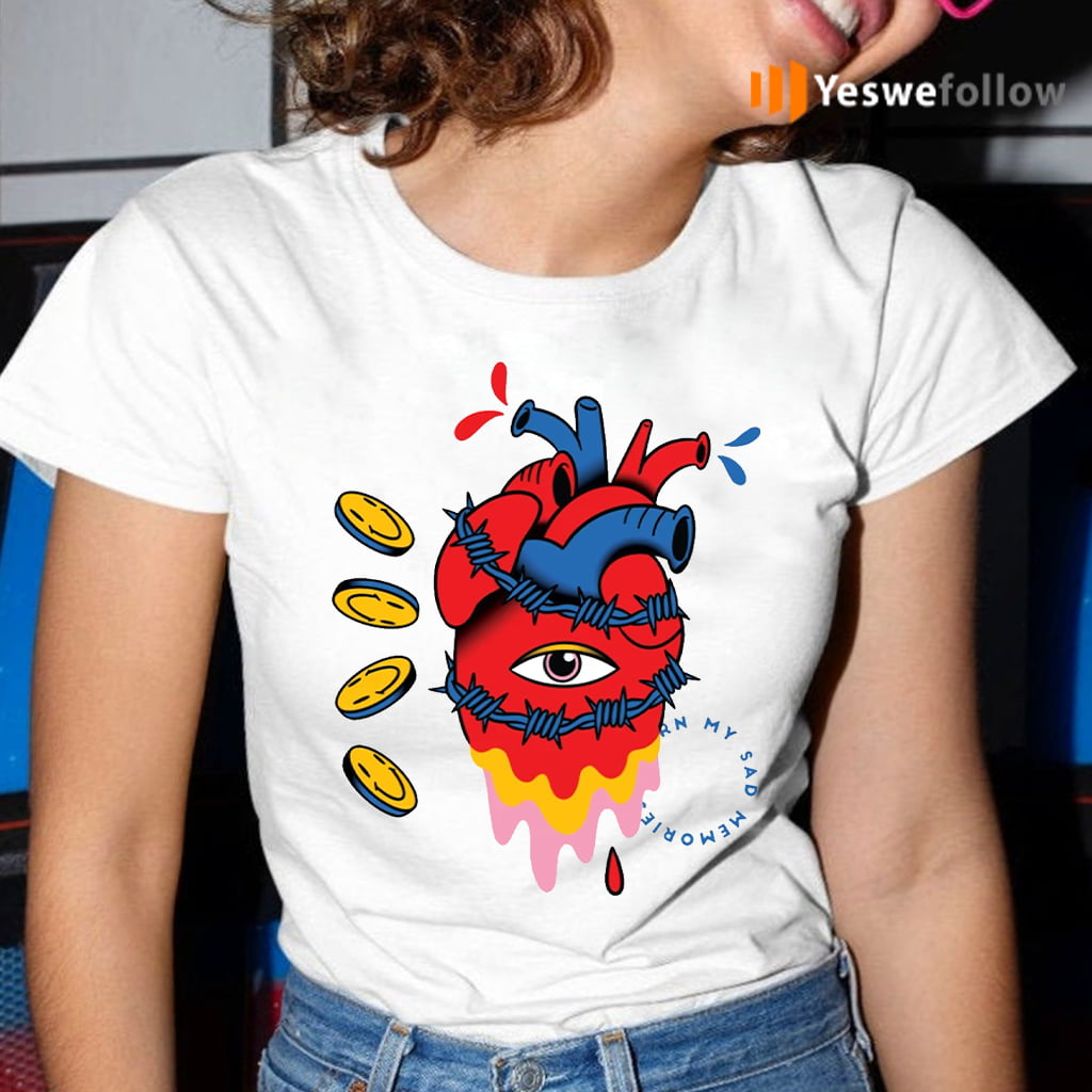 barbed wire heart trippy surreal shirt