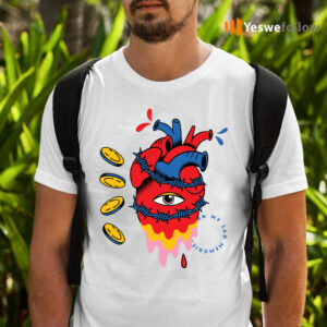 barbed wire heart trippy surreal shirts