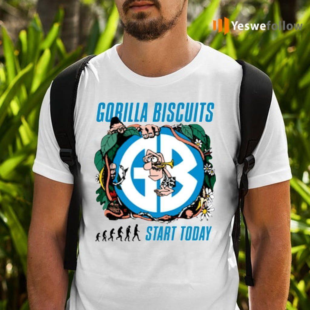 gorilla biscuits start today teeshirt