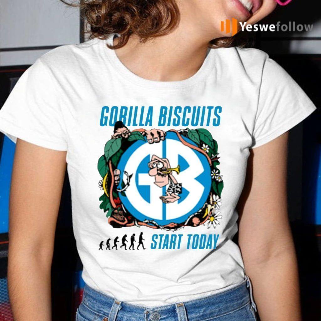 gorilla biscuits start today teeshirts