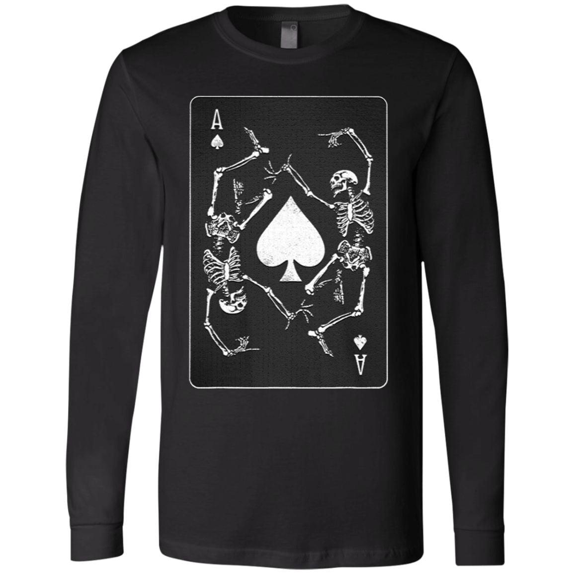 Goth Punk Ace Of Spades Card Shark Gambler T Shirt