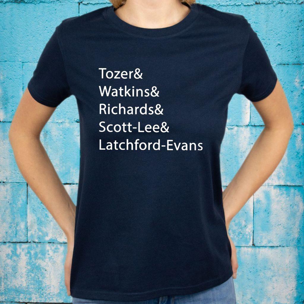 Tozer Watkins Richards Scott-Lee Latchford-Evans T-Shirts