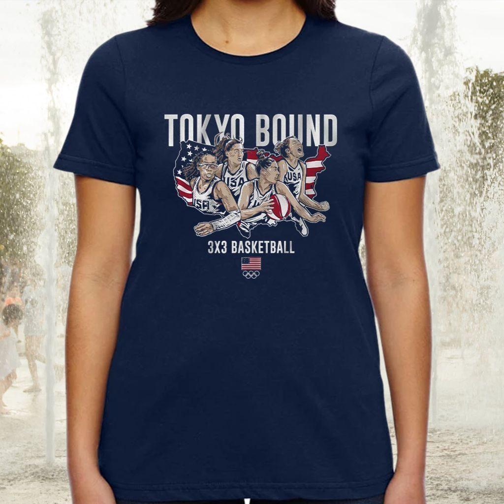 3x3 basketball tokyo bound tshirts
