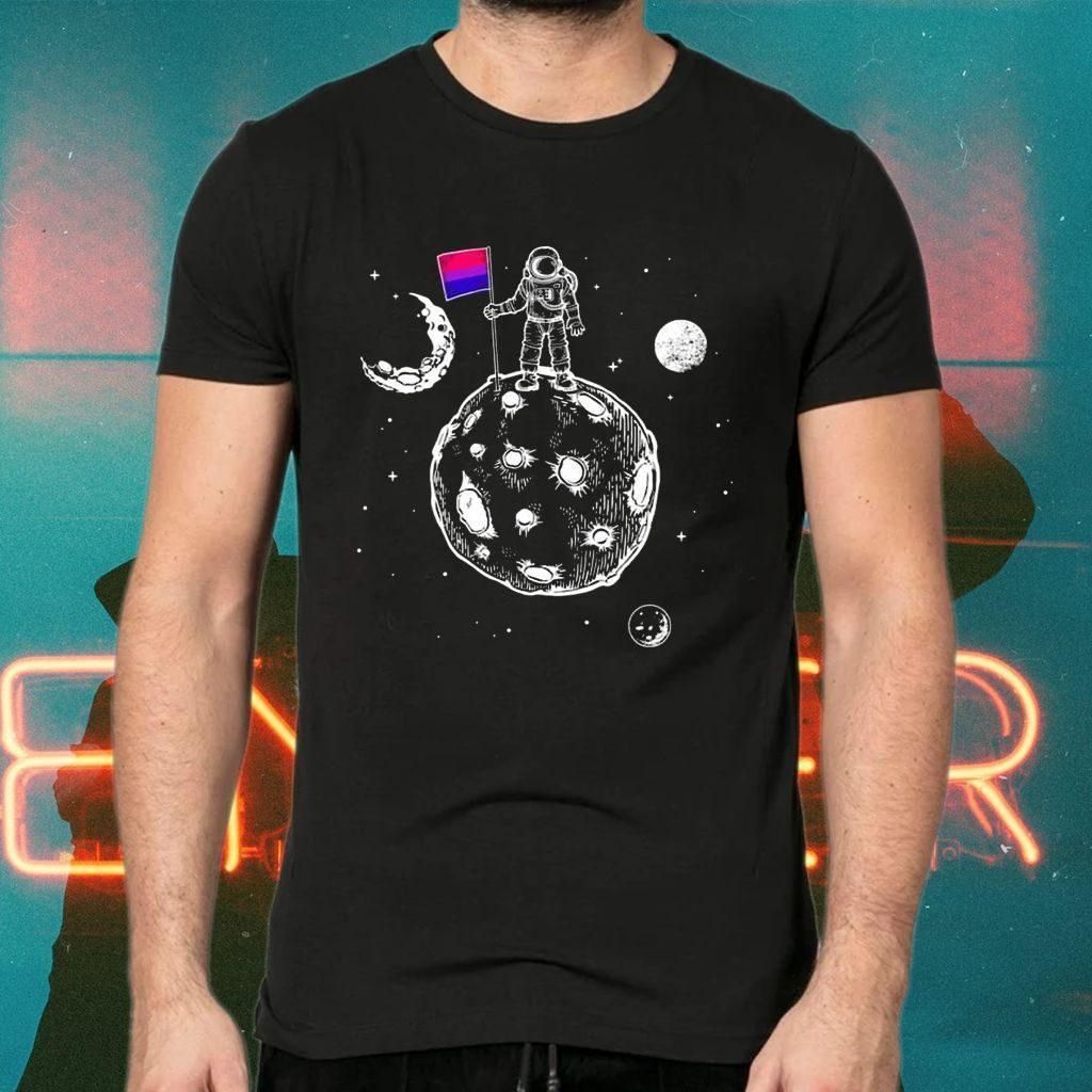 Astronaut Moon Black Teeshirt