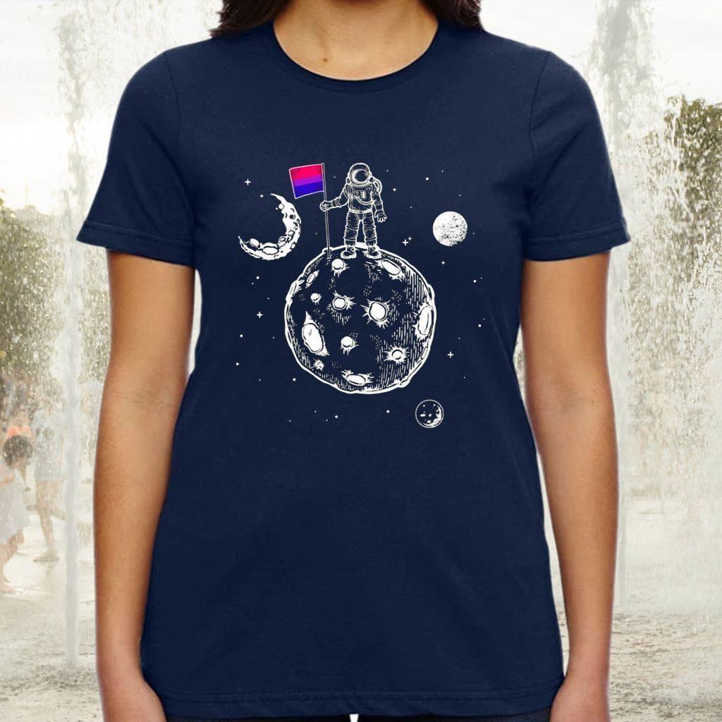Astronaut Moon Black Teeshirts