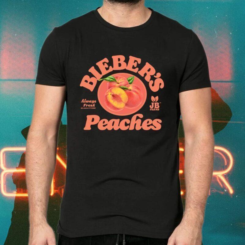 Bieber's peaches tshirt