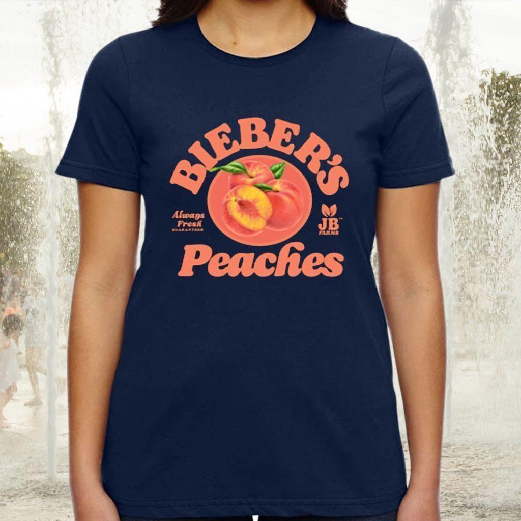 Bieber's peaches tshirts