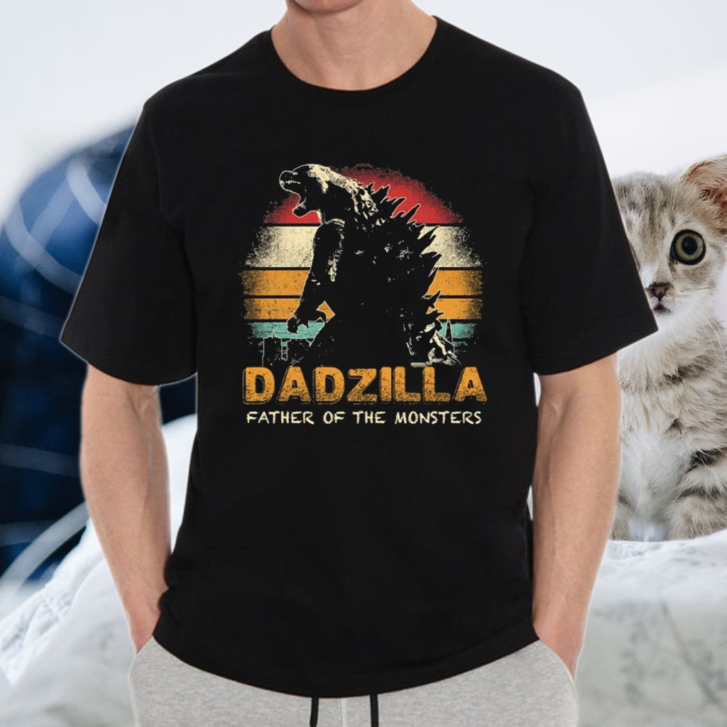 Dadzilla Father Of The Monsters Retro Vintage Sunset Shirts