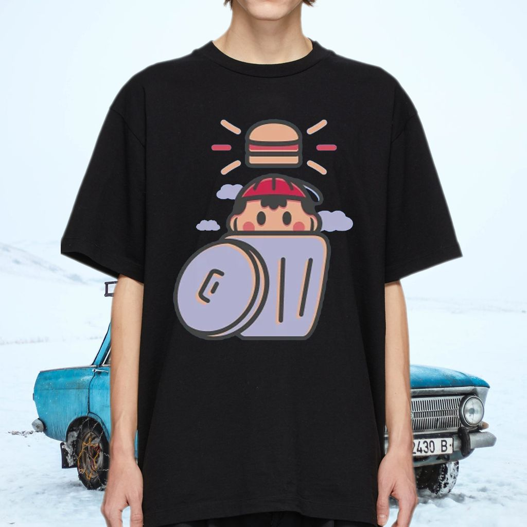 EarthBound Trashcan Burger Shirt