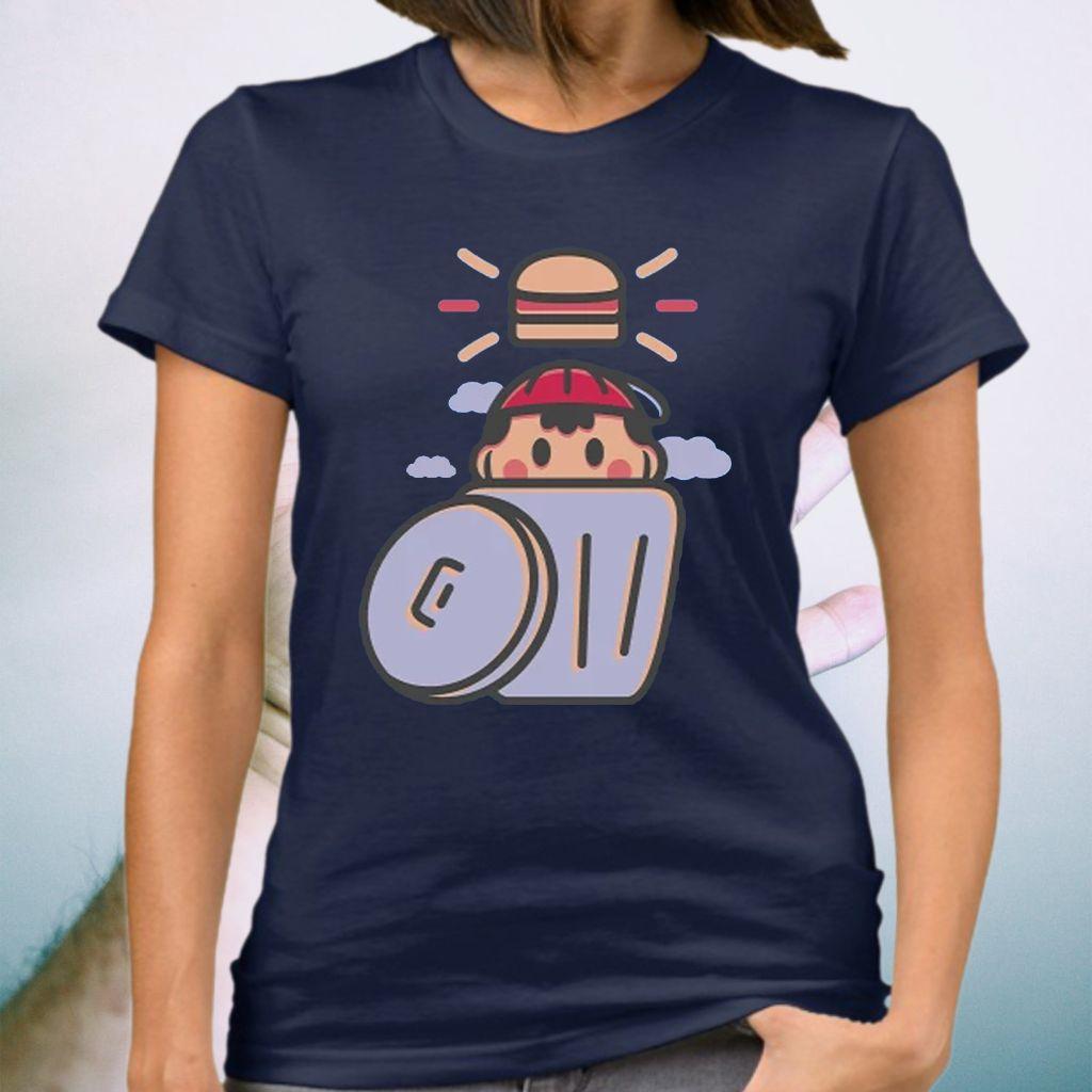 EarthBound Trashcan Burger Shirts