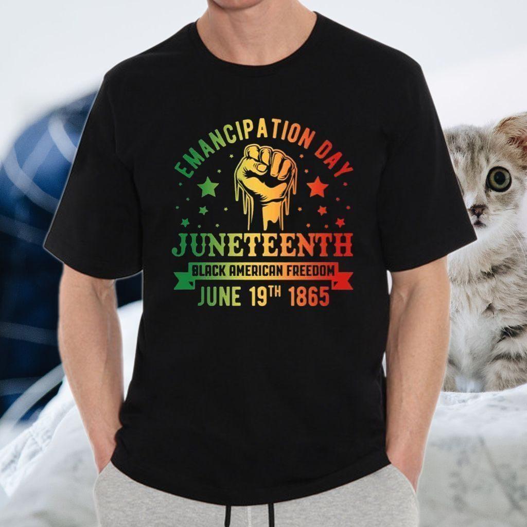 Emancipation Day Juneteenth Black American Freedom June 19 1865 T-Shirt