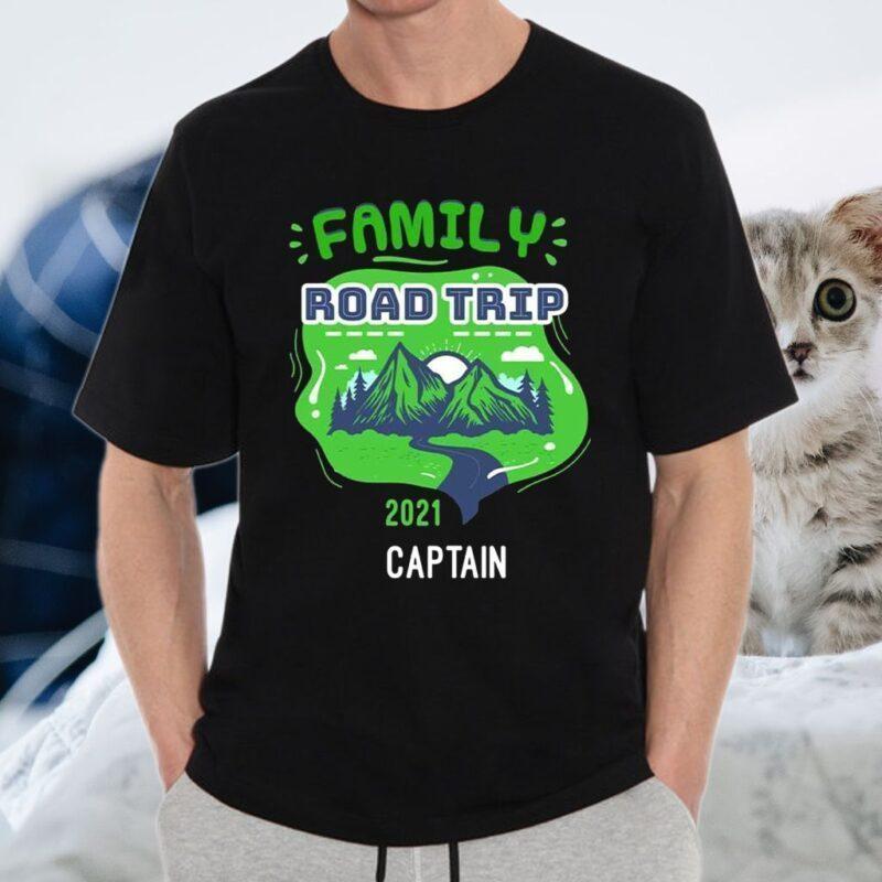 Family Road Trip 2021 Captain T-Shirt