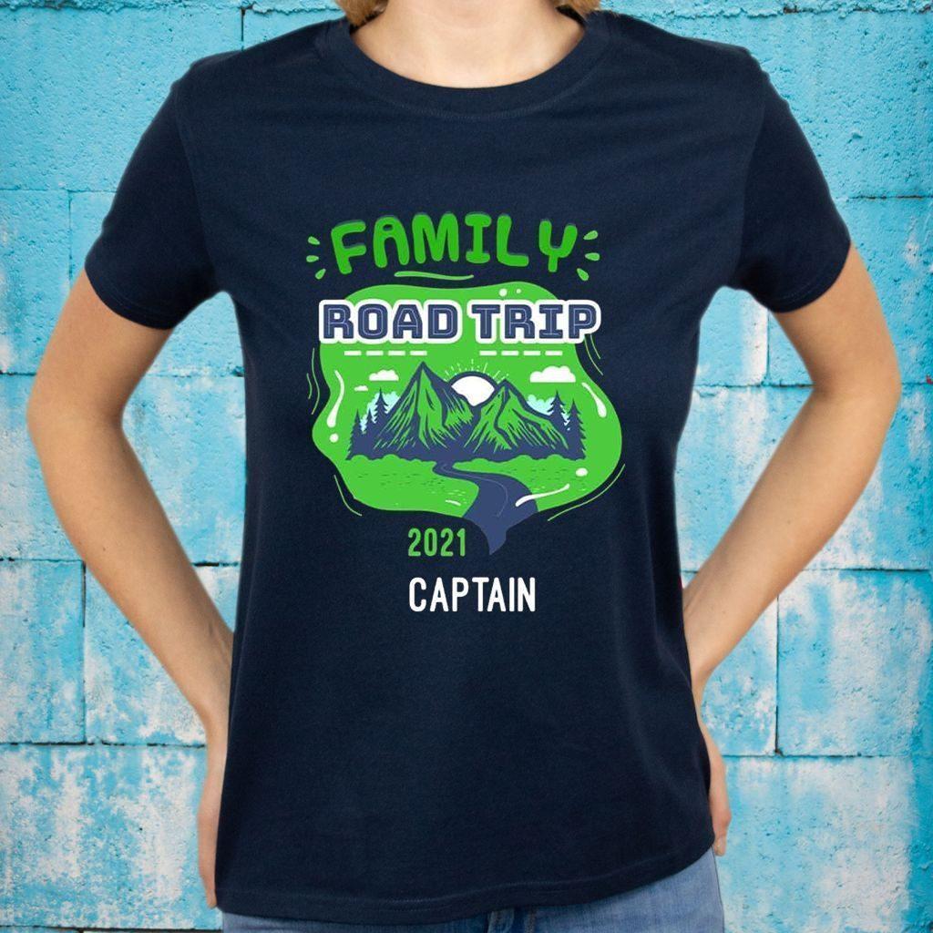 Family Road Trip 2021 Captain T-Shirts