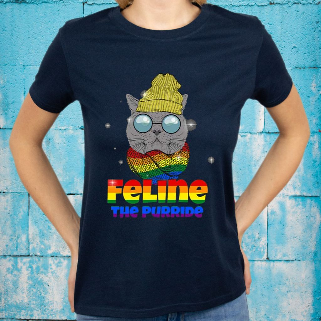 Feline The Purride LGBT Gay Pride T-shirts
