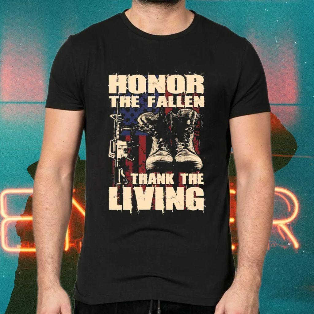 Honor The Fallen Thank The Living Vintage Veteran TShirt