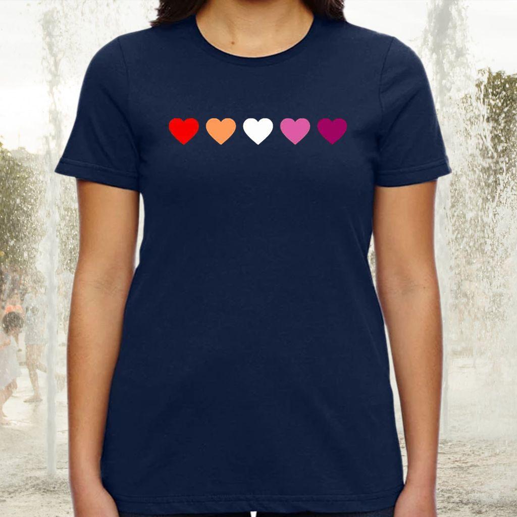 Lesbian Flag tshirts