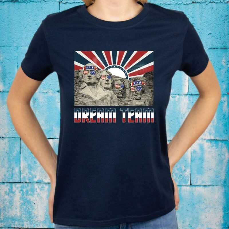 Mount Rushmore American President Dream Team T-shirts