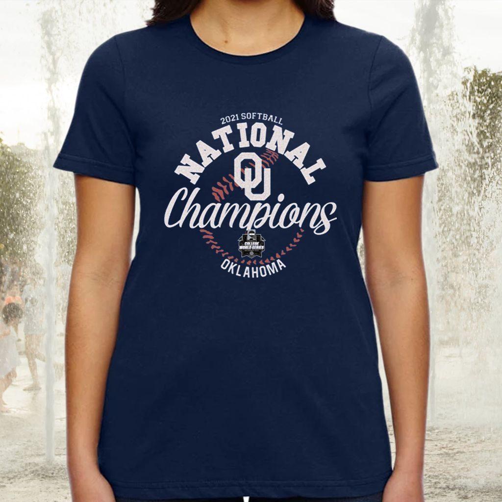 Oklahoma Sooners Blue 84 2021 NCAA Softball Women's College World Series Champions TShirt