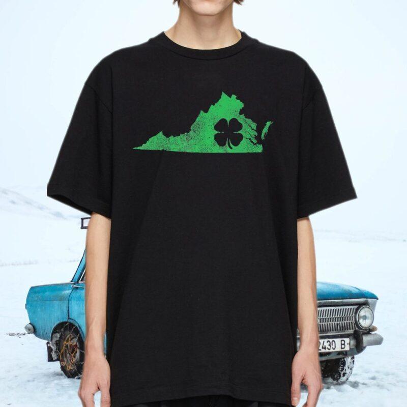 Virginia Irish Shamrock St Patrick's Shirt