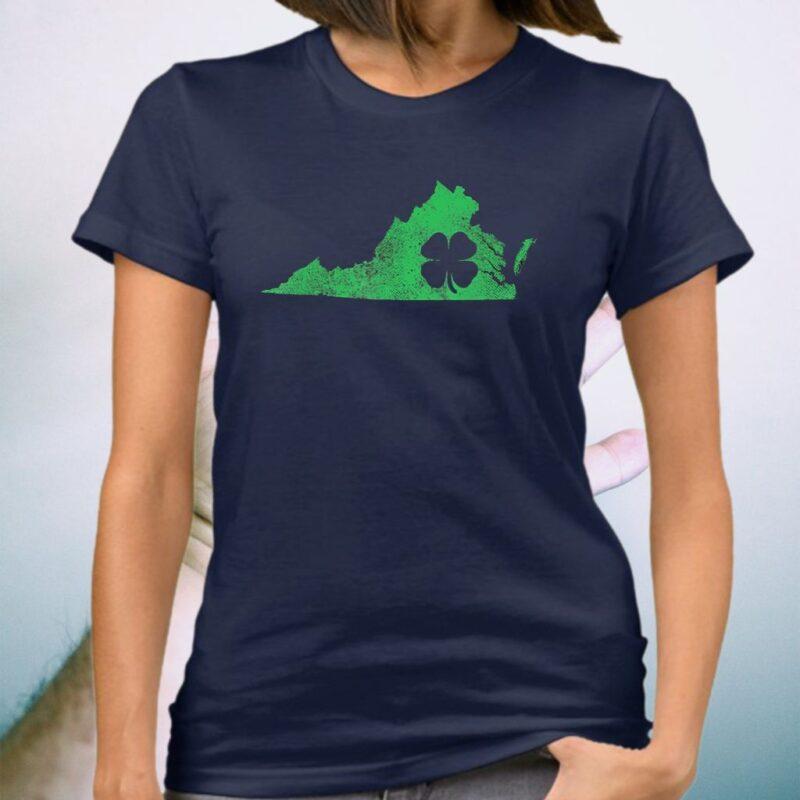 Virginia Irish Shamrock St Patrick's Shirts