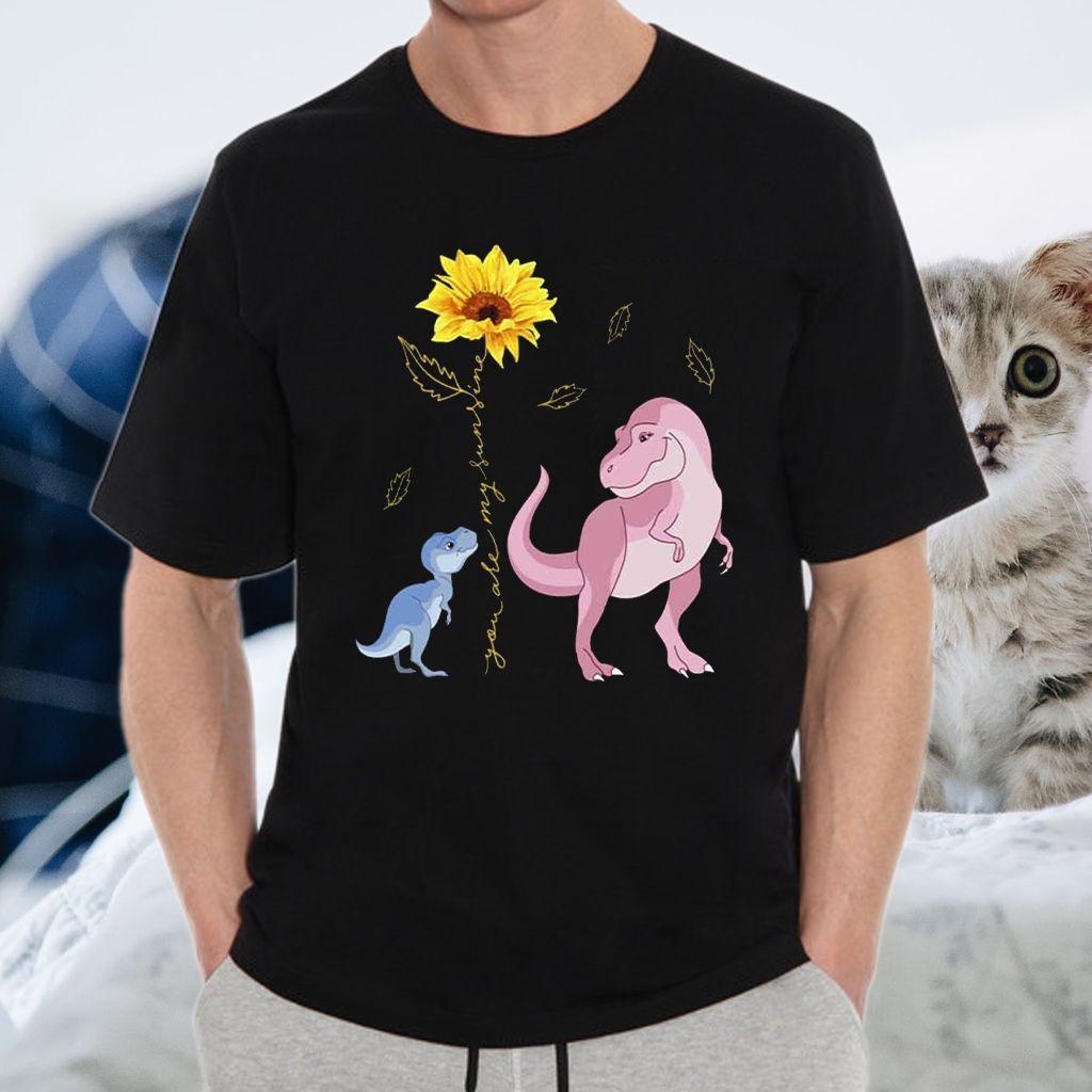 You are My Sunshine Sunflower Dinosaur T-Shirt