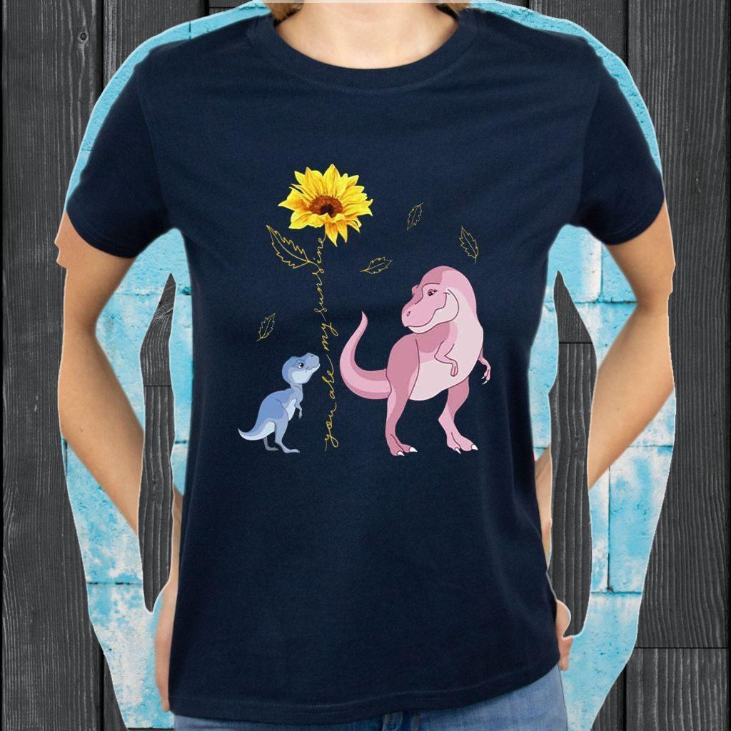 You are My Sunshine Sunflower Dinosaur T-Shirts
