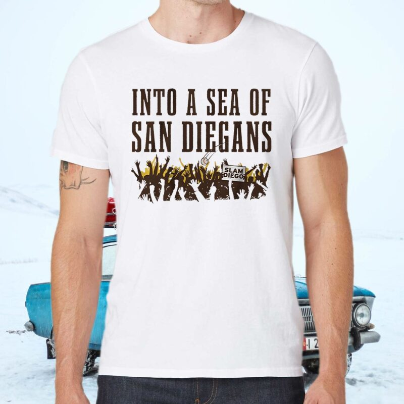 into a sea of san diegans shirts