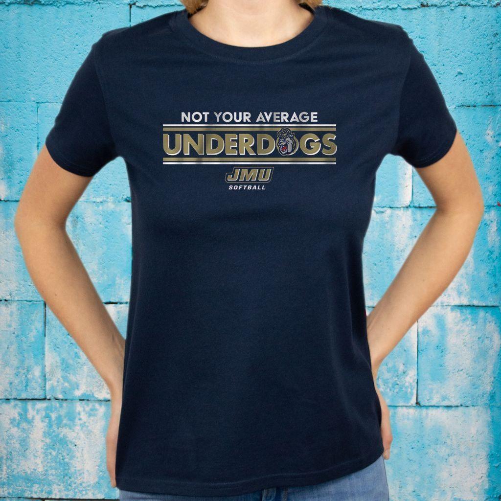 jmu not your average underdogs teeshirt