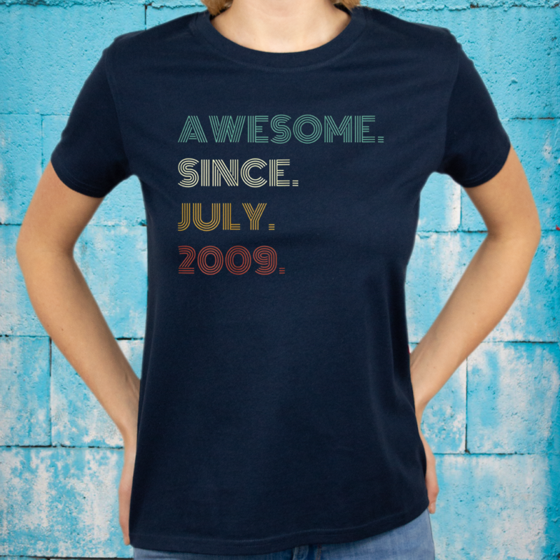 12th Birthday Awesome Since July 2009 12 Year Old Boys Girls T-Shirts