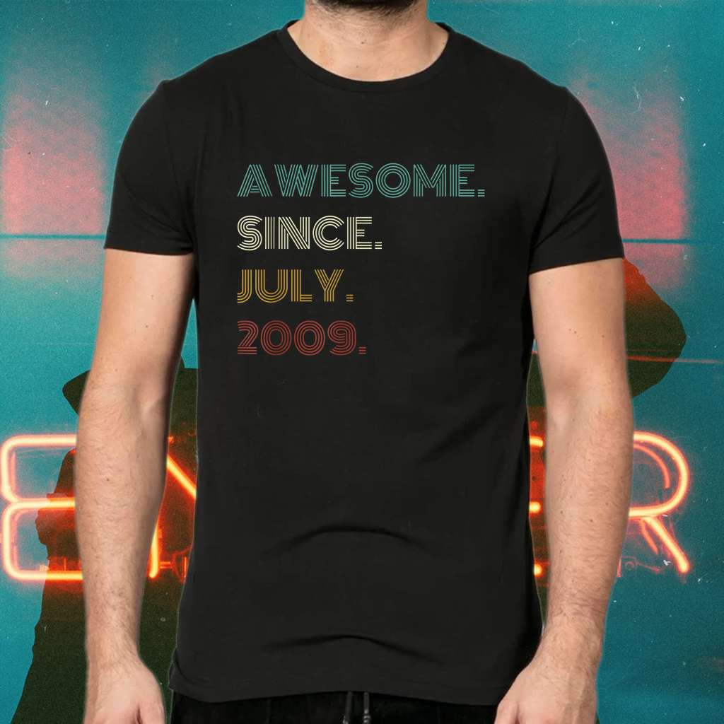 12th Birthday Awesome Since July 2009 12 Year Old Boys Girls Tee-Shirts