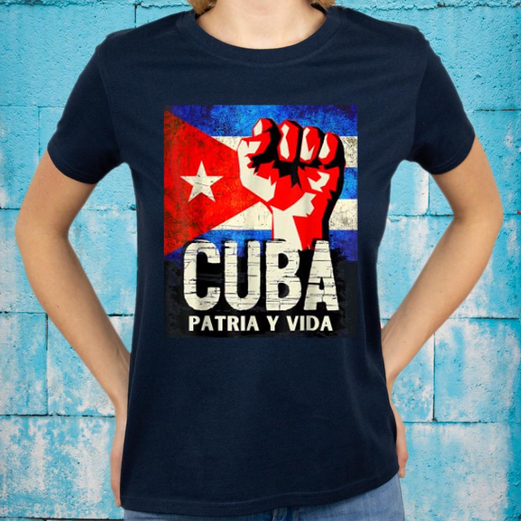 Cuban Protest Fist Flag SOS Shirt