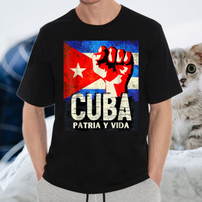 Cuban Protest Fist Flag SOS Shirts