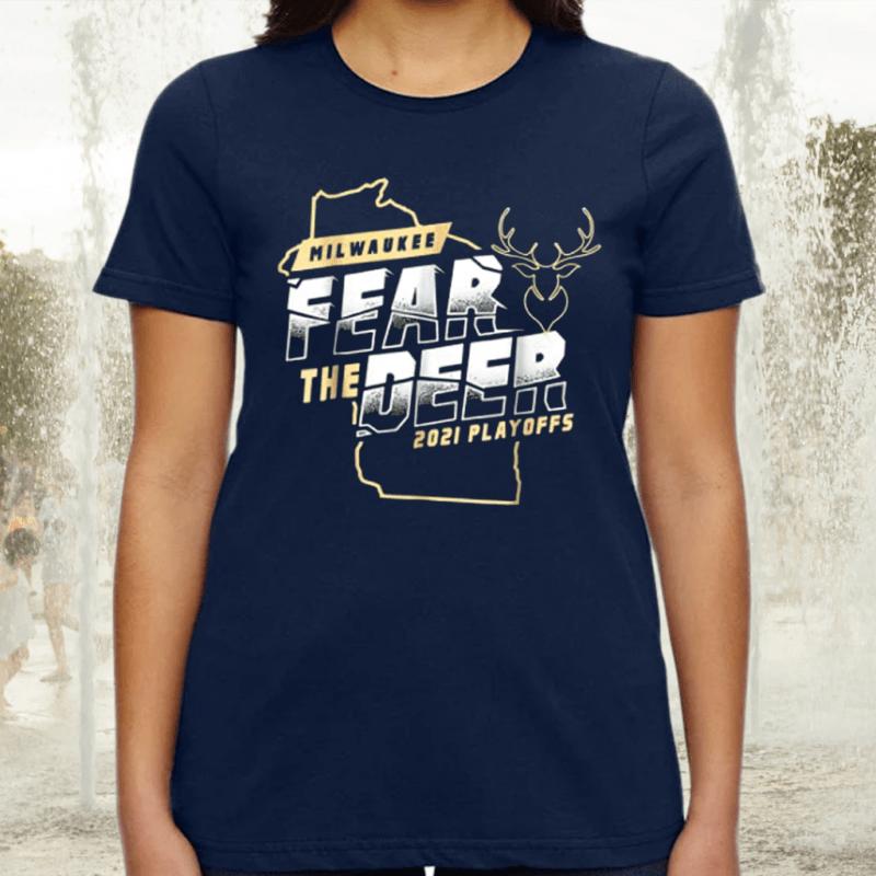 Fear Deer Milwaukee Buck Finals Champs Tee-Shirt