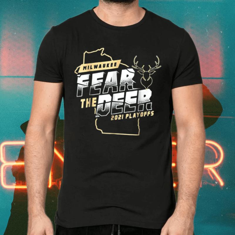 Fear Deer Milwaukee Buck Finals Champs Tee-Shirts