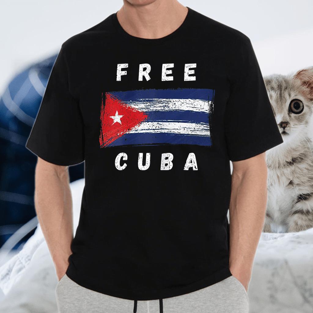 Free Cuba Retro Cuban Flag Shirts