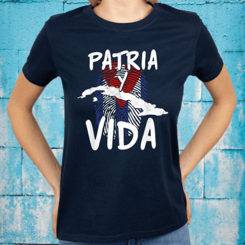 Half American Cuban Flag Sos Cuba Vintage Shirt
