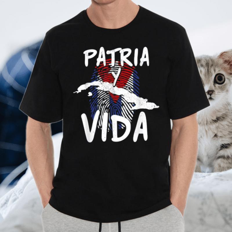 Half American Cuban Flag Sos Cuba Vintage Shirts