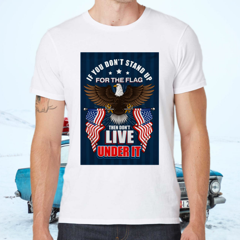 If You Don't Stand Up For The Flag Then Don't Live Under It Shirts