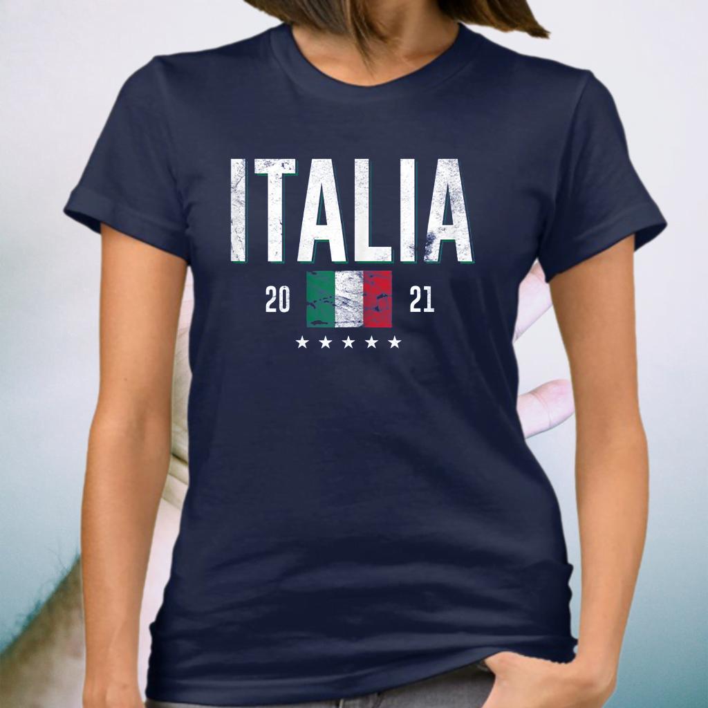 Italy Jersey Soccer 2021 Italian Flag Football Vintage T-Shirt