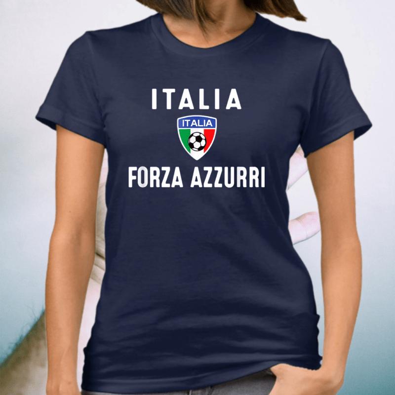 Italy Soccer Jersey 2020 Forza Azzurri Italia Football Team T-Shirt